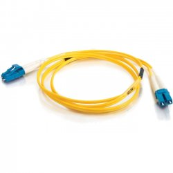 C2G (Cables To Go) - 11184 - 10m LC-LC 9/125 OS1 Duplex Singlemode Fiber Optic Cable (TAA Compliant) - Yellow - Fiber Optic for Network Device - LC Male - LC Male - 9/125 - Duplex Singlemode - OS1 - TAA Compliant - 10m - Yellow