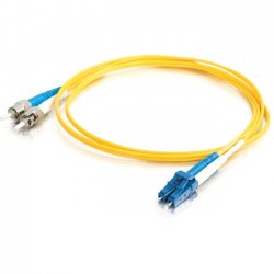 C2G (Cables To Go) - 11206 - C2G-8m LC-ST 9/125 OS1 Duplex Singlemode Fiber Optic Cable (TAA Compliant) - Yellow - Fiber Optic for Network Device - LC Male - ST Male - 9/125 - Duplex Singlemode - OS1 - TAA Compliant - 8m - Yellow