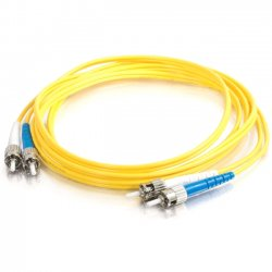 C2G (Cables To Go) - 11243 - C2G-8m ST-ST 9/125 OS1 Duplex Singlemode Fiber Optic Cable (TAA Compliant) - Yellow - Fiber Optic for Network Device - ST Male - ST Male - 9/125 - Duplex Singlemode - OS1 - TAA Compliant - 8m - Yellow