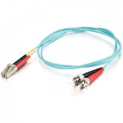 C2G (Cables To Go) - 11014 - 10m LC-ST 10Gb 50/125 OM3 Duplex Multimode Fiber Optic Cable (TAA Compliant) - Aqua - Fiber Optic for Network Device - LC Male - ST Male - 10Gb - 50/125 - Duplex Multimode - OM3 - 10GBase-SR, 10GBase-LRM - TAA Compliant - 10m