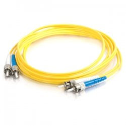 C2G (Cables To Go) - 11245 - C2G-10m ST-ST 9/125 OS1 Duplex Singlemode Fiber Optic Cable (TAA Compliant) - Yellow - Fiber Optic for Network Device - ST Male - ST Male - 9/125 - Duplex Singlemode - OS1 - TAA Compliant - 10m - Yellow