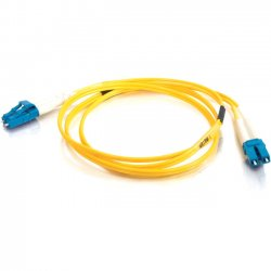 C2G (Cables To Go) - 11186 - 20m LC-LC 9/125 OS1 Duplex Singlemode Fiber Optic Cable (TAA Compliant) - Yellow - Fiber Optic for Network Device - LC Male - LC Male - 9/125 - Duplex Singlemode - OS1 - TAA Compliant - 20m - Yellow