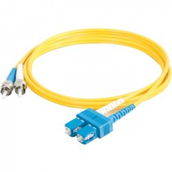 C2G (Cables To Go) - 11234 - C2G-15m SC-ST 9/125 OS1 Duplex Singlemode Fiber Optic Cable (TAA Compliant) - Yellow - Fiber Optic for Network Device - SC Male - ST Male - 9/125 - Duplex Singlemode - OS1 - TAA Compliant - 15m - Yellow