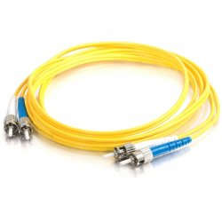 C2G (Cables To Go) - 11246 - C2G-15m ST-ST 9/125 OS1 Duplex Singlemode Fiber Optic Cable (TAA Compliant) - Yellow - Fiber Optic for Network Device - ST Male - ST Male - 9/125 - Duplex Singlemode - OS1 - TAA Compliant - 15m - Yellow