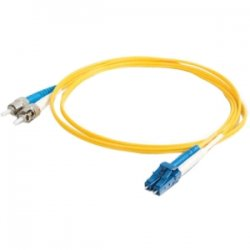 C2G (Cables To Go) - 11211 - 20m LC-ST 9/125 OS1 Duplex Singlemode Fiber Optic Cable (TAA Compliant) - Yellow - Fiber Optic for Network Device - LC Male - ST Male - 9/125 - Duplex Singlemode - OS1 - TAA Compliant - 20m - Yellow