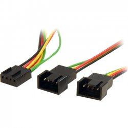 StarTech - FAN4SPLIT12 - StarTech.com 12in 4 Pin Fan Power Splitter Cable - F/M - 1ft - Molex - Molex