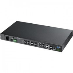ZyXel - MGS3712F - ZyXEL 8-Port GbE L2 Switch with Four GbE Uplink Ports - Manageable - 2 Layer Supported - Desktop - 2 Year Limited Warranty