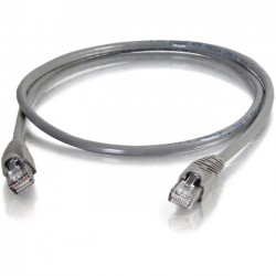 C2G (Cables To Go) - 10275 - 25ft Cat5e Snagless Unshielded (UTP) Network Patch Cable (TAA Compliant) - Gray - Category 5e for Network Device - RJ-45 Male - RJ-45 Male - TAA Compliant - 25ft - Gray