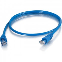 C2G (Cables To Go) - 10281 - C2G-5ft Cat5e Snagless Unshielded (UTP) Network Patch Cable (TAA Compliant) - Blue - Category 5e for Network Device - RJ-45 Male - RJ-45 Male - TAA Compliant - 5ft - Blue