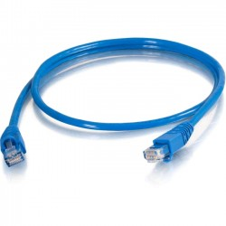 C2G (Cables To Go) - 10284 - C2G-14ft Cat5e Snagless Unshielded (UTP) Network Patch Cable (TAA Compliant) - Blue - Category 5e for Network Device - RJ-45 Male - RJ-45 Male - TAA Compliant - 14ft - Blue
