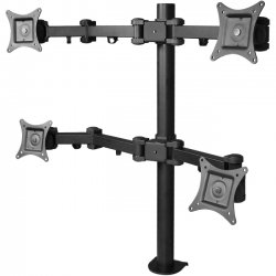 SIIG - CE-MT0S12-S1 - SIIG CE-MT0S12-S1 Desk Mount for Flat Panel Display - 13 to 27 Screen Support - 88 lb Load Capacity - Steel - Black