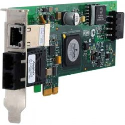 Allied Telesis - AT-2716POE/FXSC-901 - Allied Telesis AT-2716POE/FXSC - Network adapter - PCIe 2.0 low profile - 100Mb LAN - 100Base-FX - 1310 nm + 1 x 10/100/1000Base-T - federal government