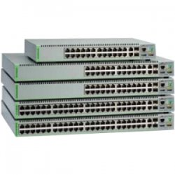 Allied Telesis - AT-8100S/24F-LC-10 - Allied Telesis AT-8100S/24F-LC Layer 3 Switch - 24 x Fast Ethernet Network, 2 x Gigabit Ethernet Expansion Slot - Manageable - 4 Layer Supported