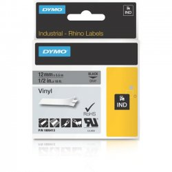 DYMO - 1805413 - Dymo Black on Gray Color Coded Label - Permanent Adhesive - 1/2 Width x 18 3/64 ft Length - Thermal Transfer - Gray - Vinyl