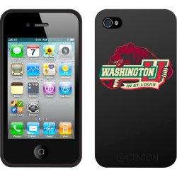 Centon Electronics - IPH4C-WU - Centon Collegiate iPhone Case - iPhone - Black - George Washington University Logo