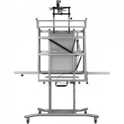 Best-Rite / MooreCo - 27640 - Balt Stand & Mount w/Super Short Throw Arm - 3 x Shelf(ves) - 75 Height x 55.8 Width x 30 Depth - Black