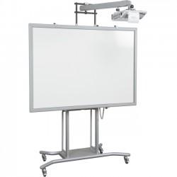 Best-Rite / MooreCo - 27636 - Balt iTeach 2 Cart with Ultra Short Throw Arm - 100 lb Load Capacity - 1 x Shelf(ves) - 102 Height x 55 Width x 27.5 Depth - Powder Coated - Steel - Gray