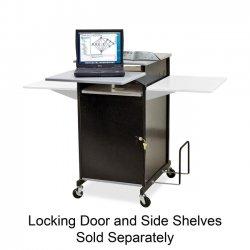 Best-Rite / MooreCo - 27517 - Balt Extra Wide Presentation Cart - 2 x Shelf(ves) - 40 Height x 21.3 Width x 30.5 Depth - Gray, Black