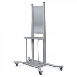 Best-Rite / MooreCo - 27625 - Balt Wall Mount Mobile Stand - 1 x Shelf(ves) - 74 Height x 58 Width x 30.3 Depth - Steel - Platinum