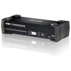 Aten Technologies - VS1508T - Aten 8-Port VGA/Audio Cat5e/6 Splitter with RS-232 - 1920 x 1200 - WUXGA - 1 x 81 x VGA Out