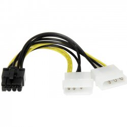 StarTech - LP4PCIEX8ADP - StarTech.com 6in LP4 to 8 Pin PCI Express Video Card Power Cable Adapter - 6.02 - LP4 - PCI-E