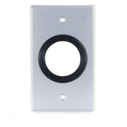 C2G (Cables To Go) - 40489 - C2G Single Gang 1.5in Grommet Wall Plate - Brushed Aluminum - 1-gang