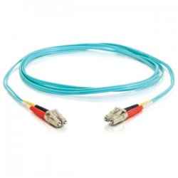 C2G (Cables To Go) - 21600 - C2G 1m LC-LC 10Gb 50/125 OM3 Duplex Multimode PVC Fiber Optic Cable (USA-Made) - Aqua - Fiber Optic for Network Device - LC Male - LC Male - 10Gb - 50/125 - Duplex Multimode - OM3 - 10GBase-SR, 10GBase-LRM - USA-Made - 1m -
