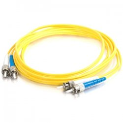 C2G (Cables To Go) - 37458 - 15m ST-ST 9/125 OS1 Duplex Singlemode PVC Fiber Optic Cable - Yellow - Fiber Optic for Network Device - ST Male - ST Male - 9/125 - Duplex Singlemode - OS1 - 15m - Yellow