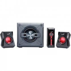 Genius - Kye Systems - 31730980101 - Genius SW-G2.1 1250 2.1 Speaker System - 38 W RMS - Gray - 58 Hz - 20 kHz