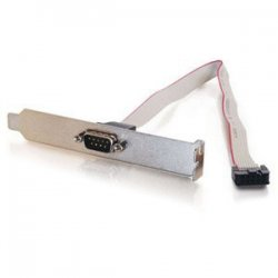 C2G (Cables To Go) - 28300 - C2G DB9 Male Serial Add-A-Port Adapter with Bracket for Intel Motherboards - DB-9 Male, IDC Female