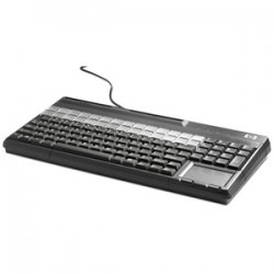 Hewlett Packard (HP) - FK218AT#ABA - HP POS Keyboard - 106 Keys - QWERTY Layout - Magnetic Stripe Reader - USB