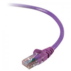 Belkin / Linksys - A3L980-05-PUR - Belkin High Performance - Patch cable - RJ-45 (M) to RJ-45 (M) - 5 ft - CAT 6 - purple - for Omniview SMB 1x16, SMB 1x8, OmniView SMB CAT5 KVM Switch