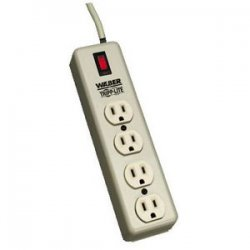 Tripp Lite - 4SPDX - Tripp Lite Waber Industrial Power Strip 4 outlets 6' Cord 5-15P - NEMA 5-15P - 4 NEMA 5-15R - 6ft
