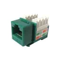 Weltron - 44-678GN - Weltron 8P8C Green Cat5E 568A/B Keystone Punch Down Jack (44-678GN) - 1 x RJ-45 Female - Green