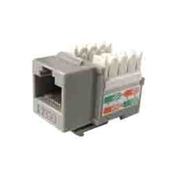 Weltron - 44-678GY - Weltron 8P8C Gray Cat5E 568A/B Keystone Punch Down Jack (44-678GY) - 1 x RJ-45 Female - Gray