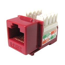 Weltron - 44-678RD - Weltron 8P8C Red Cat5E 568A/B Keystone Punch Down Jack (44-678RD) - 1 x RJ-45 Female - Red
