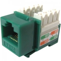 Weltron - 44-678C6-GN - Weltron Cat6 Green 110 Keystone Punch Down Jack (44-678C6-GN) - 1 x RJ-45 Female - Green