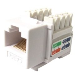 Weltron - 44-678C6-WH - Weltron Cat6 White 110 Keystone Punch Down Jack (44-678C6-WH) - 1 x RJ-45 Female - White