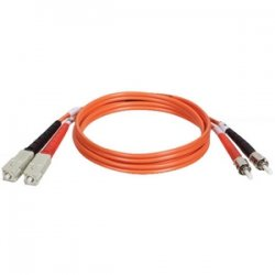 Tripp Lite - N304-004 - Tripp Lite 1.2M Duplex Multimode 62.5/125 Fiber Optic Patch Cable SC/ST 4' 4ft 1.2 Meter - ST Male - SC Male - 4ft - Orange