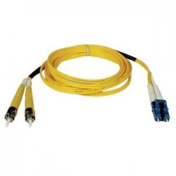 Tripp Lite - N368-05M - Tripp Lite 5M Duplex Singlemode 8.3/125 Fiber Optic Patch Cable LC/ST 16' 16ft 5 Meter - LC Male - ST Male - 16.4ft - Yellow