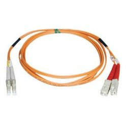 Tripp Lite - N316-15M - Tripp Lite 15M Duplex Multimode 62.5/125 Fiber Optic Patch Cable LC/SC 50' 50ft 15 Meter - SC Male - LC Male - 49.21ft - Orange