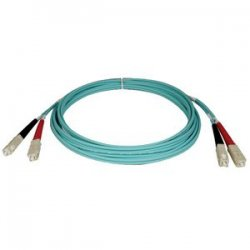 Tripp Lite - N806-02M - Tripp Lite 2M 10Gb Duplex Multimode 50/125 OM3 LSZH Fiber Optic Patch Cable SC/SC Aqua 6' 6ft 2 Meter - SC Male - SC Male - 6.56ft - Aqua Blue