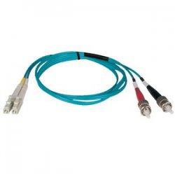 Tripp Lite - N818-03M - Tripp Lite 3M 10Gb Duplex Multimode 50/125 OM3 LSZH Fiber Optic Patch Cable LC/ST Aqua 10' 10ft 3 Meter - LC Male - ST Male - 9.84ft - Aqua Blue