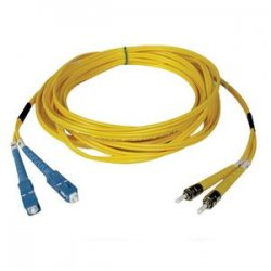 Tripp Lite - N354-15M - Tripp Lite 15M Duplex Singlemode 8.3/125 Fiber Optic Patch Cable SC/ST 50' 50ft 15 Meter - SC Male - ST Male - 49.21ft - Yellow