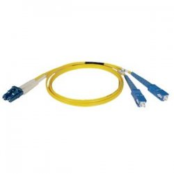 Tripp Lite - N366-15M - Tripp Lite 15M Duplex Singlemode 8.3/125 Fiber Optic Patch Cable LC/SC 50' 50ft 15 Meter - LC Male - SC Male - 49.21ft - Yellow