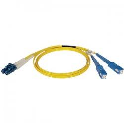 Tripp Lite - N366-25M - Tripp Lite 25M Duplex Singlemode 8.3/125 Fiber Optic Patch Cable LC/SC 82' 82ft 25 Meter - LC - SC - 82ft