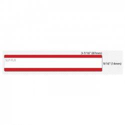 "Seiko Instruments - SLP-FLR - Seiko SmartLabel SLP-FLR File Folder Label - 0.56"" Width x 3.43"" Length - 130/Roll - 0.79"" Core - 2 Roll - Red"