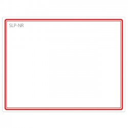 "Seiko Instruments - SLP-NR - Seiko Name Badge Label - 2.75"" Width x 2.12"" Length - 1 / Box - Red"