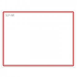 "Seiko Instruments - SLP-NR - Seiko Name Badge Label - 2.75"" Width x 2.12"" Length - 1 / Box - Red"