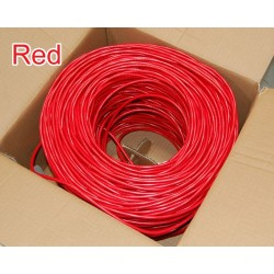 Bytecc - C6E-1000R - Bytecc Category 6 Bulk Cable, 1000 Feet - Category 6 for Network Device - 1000 ft - Bare Wire - Bare Wire - Shielding - Red